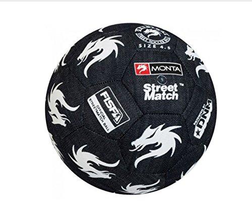 Monta Street Match–Balón de fútbol, Color Azul, Unisex, Multi Coloured