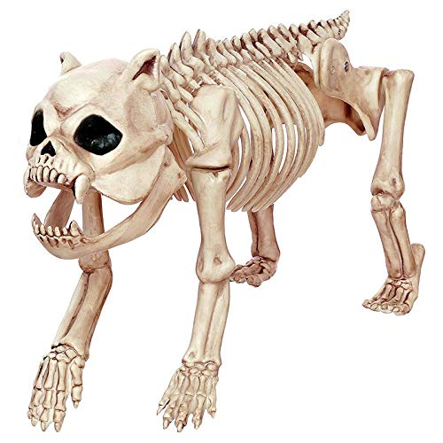 Aprigy - Skeleton Tier 100% Kunststoff-Tier-Skelett-Knochen Horror Halloween Weihnachten Prop Tier Crow Skeleton Dekoration Jahres [8 ]