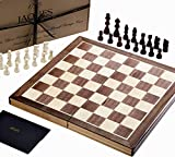 Jaques Folding Chess set 15 Inches Complete with 3 inch Chess Pieces - Quality Chess For Over 150 Years