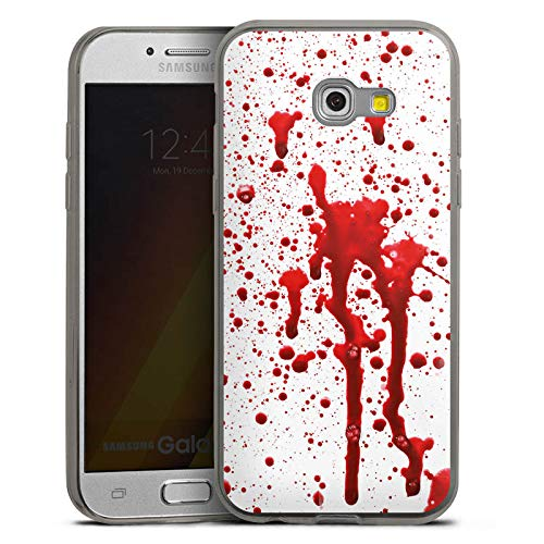 (DeinDesign Slim Case Silikon Hülle Ultra Dünn Schutzhülle kompatibel mit Samsung Galaxy A3 Duos 2017 Blut Blood Halloween)