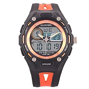Quamer - Dual Time Multifuntion Men's Sports Watch