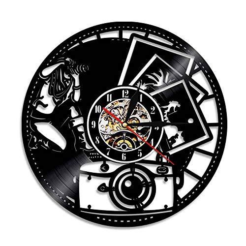 Design Vintage Vinyl Uhr Handgemachte Rekord Wanduhr Kreative Hängende Inneneinrichtungen ()