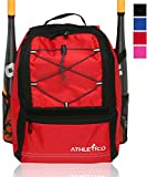 Athletico Youth baseball bat bag – Zaino per palla da & baseball, softball Equipment & Gear per ragazzi e ragazze | contiene pipistrello, casco, guanti | Fence Hook