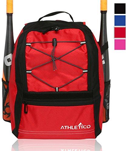 Athletico Youth Baseballschläger Tasche–Rucksack für Baseball, T & Softball Equipment & Gear für Mädchen & Jungen   mit Fledermaus, Helm, Handschuh   Zaun Haken (Demarini Bat Softball)