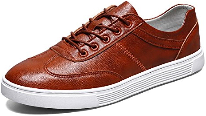 LYZGF Hombres Zapatos Casuales De Primavera Y Otoño Zapatos Casuales De Cuero,Brown-39  -
