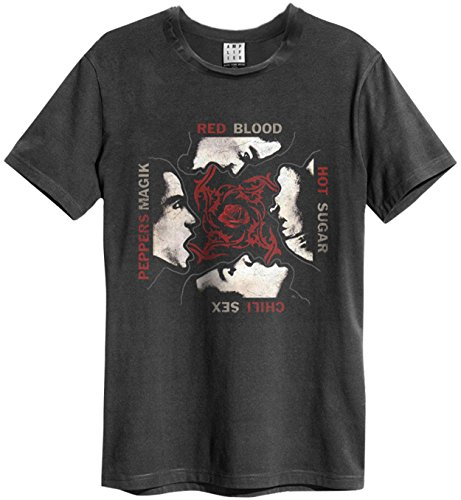 Amplified Herren Oberteile/T-Shirt Red Hot Chilli Peppers Blood, Sugar, Magic Anthrazit