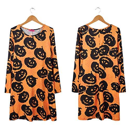 Imagen de vestido para mujeres,halloween para mujer casual vestido de mujer cosplay ropa de halloween vestimenta actuación festival faldas de calabaza floral de la navidad de la navidad mujeres alternativa
