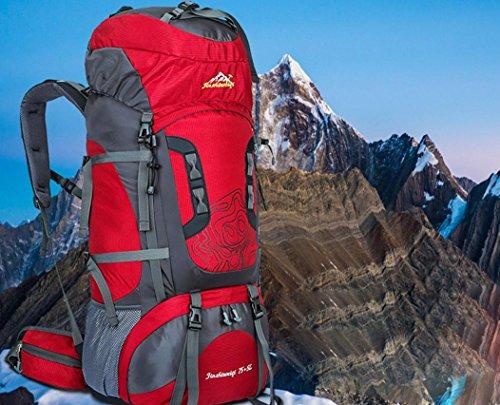 ROBAG Doppia borsa a tracolla uomo outdoor alpinismo professionale grande capacità zaino , green red