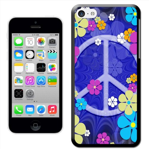Fancy A Snuggle 'Hippie Flower Power Peace Sign Groovy Sixties Vintage' Hard Case Clip On Back Cover für Apple iPhone 5 C