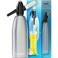 Innovee Soda Siphon – Ultimate Soda Maker - Aluminum – 1 Liter - Make Soda Infusions W/ Free Cocktail Recipes (e-book) - Get Sparkling Water When You Want it - Uses Standard CO2 Charger (not included)