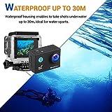 Action Cam, icefox 2K 16MP Unterwasserkamera, WIFI Fernbedienung, 2.0 Display Helmkamera, Wasserdicht Sport Action Kamera mit 2 Akku und kostenloses Zubehör  Test
