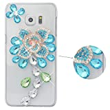 Spritech (TM Luxus 3D Handgefertigt Fashion Girl Frau Elegant Rose Blume Bling Kristall Diamant Design klar Hard Caver Fall, Style-2, Samsung Galaxy Note Edge