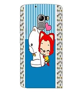 PrintDhaba Cartoon D-5812 Back Case Cover for LENOVO VIBE X3 LITE (Multi-Coloured)