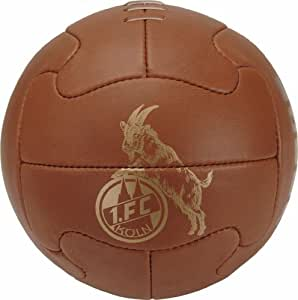 erima 151156 Football 1.FC Köln Fan Ball Retro Size 1 Brown / Gold