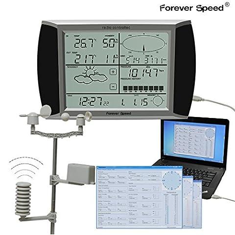 Forever Speed Wetterstation WH1080 Funk Wetterstation mit
