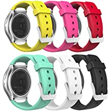 MoKo Gear S2 Watch Correa - [6Packs]Reemplaza Deportiva de Silicona Suave con Raya V de Arco iris Colorido para Samsung Galaxy Gear S2 SM-R720 / SM-R730 Smart Watch (No se Ajuete a Gear S2 Classic SM-R732)