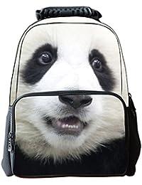 Y-BOA Sac à Dos Zippé Imprimé Animaux 3D Multifonction Randonnée Voyage Scolaire (Panda)