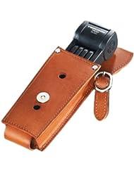 Faltschloss Trelock Manufaktur m.Halter FS 300/85 schwarz mit Leder