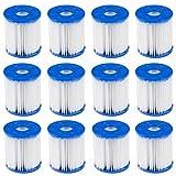 CAOQAO Cartouche De Filtration,Cartouche De Filtration Easy Type Pool Filtre 12 Pcs,pour Pompe De Filtration 300/330...