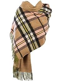 Edinburgh 100% Lambswool Double Faced Tartan/Plain Colour Stoles