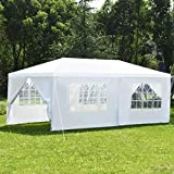 COSTWAY Tente de Jardin Tonnelle Tente de Réception en Tube Acier et PE Pavillon de...