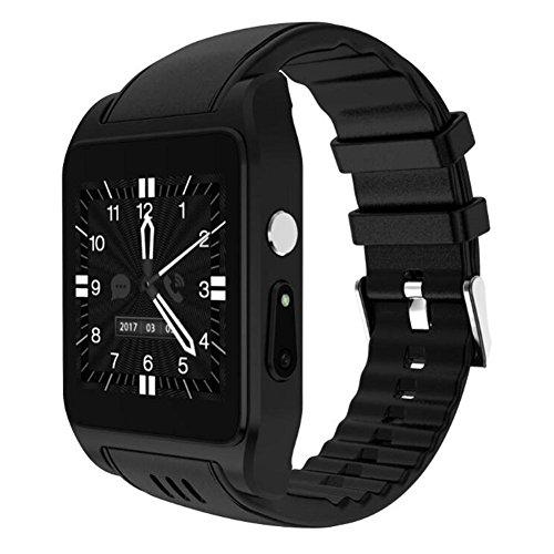 Neue Smart Watch X86 1 GB + 16 GB Speicher Android 3G Unterstützung Schrittzähler Schlaf Monitor Unterstützung Wifi HD Kamera SIM Karte für Android Armbanduhr Telefon , black gt11