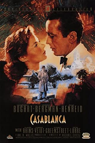 Casablanca Affiche du film Poster Movie Casablanca (11 x 17 In - 28cm x 44cm) Style S