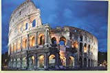 Large Roman Coliseum Canvas Picture Print With LED Lights