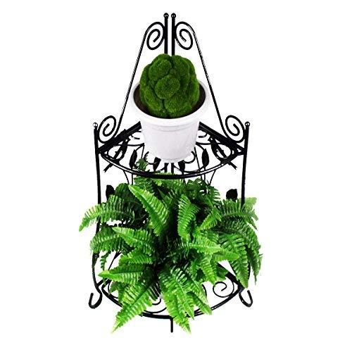 Homewell Blumenregal für Blumentöpfe, Robustes Eckregal aus Metall für den Innen- & Außenbereich - Metall-eckregal