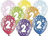 Unbekannt PartyDeco 10 Luftballons 12' Party Geburtstag Jahrestag (Zahl 2)