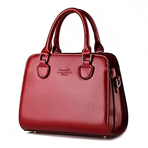 koson-man Femme Vintage Sacs bandoulière Sac à Poignée Supérieure Sac à main, rouge (Rouge) - KMUKHB257