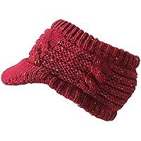 MRULIC Chapeau de Laine tricoté avec Capuchon de Laine pour Femmes dd9b7a63f07