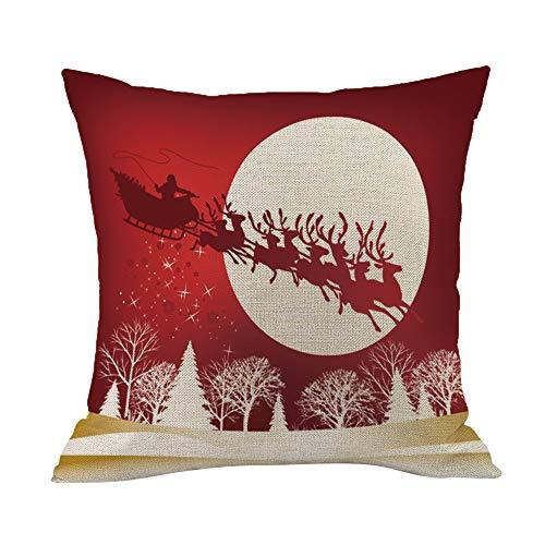TEBAISE Kissenbezüge Weihnachten Hirsch Bezug Home Decor Fall -