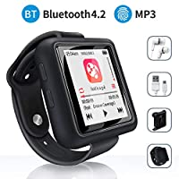 MYMAHDI Mymahdi Sport Music Clip,8 GB Bluetooth MP3 Player with FM Radio/Voice Record Function,Touch Screen Player,Max Support up to 128GB, Black