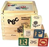 Smiles Creation ABC 123 Wooden Blocks Le...