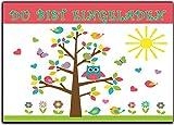 Eulen Set Kindergeburtstag Einladung Geburtstag Eule Vögel Kinder Einladungskarten Eule Jungen Mädchen 12 Stück Baum lustig witzig ausgefallen originell