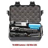 10000 Lumens LED Flashlight Torch L2/T6 Zoomable Flashlight Rechargeable Mini Lamp Penlight 18650