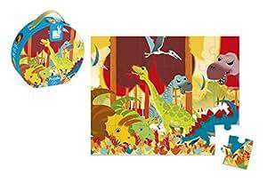 Janod - J02873 - Valisette Puzzle Dinosaures 24 pcs