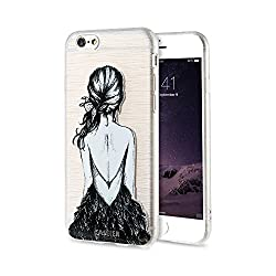 Xmdsjkgc Phone Case Phone Cases Iphone 7 8 Plus Soft Silicone Tpu Cover Iphone 6 6s Plus X 5 5s Se,back View Girl Iphone 7 8 Plus