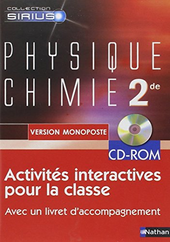 Physique Chimie 2e : CD-ROM Monoposte