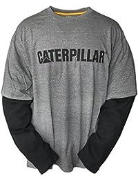 Caterpillar Mens Thermal Layered Long Sleeved Baselayer T Shirt Grey