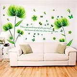 Wandtattoos WandbilderSchlafzimmer Wandaufkleber Papieraufkleber Wohnzimmer Sofa Hintergründe Wände Wanddekorationen Blumenapplique Ideen Abnehmbare Grüne Elfe 50 * 70CM