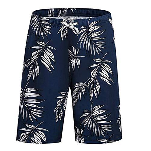 FITTOO Herren Square-Leg Badeshorts Boxer Beach Shorts mit Reißverschluss vorne Gr. Verschiedene Größen, blau