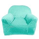 LULANDO Kindersessel Plush MINKY Babysessel Kindercouch Mini Sessel Kindermöbel für Spielzimmer und Kinderzimmer. Standard 100 von Öko Tex. Farbe: Mint