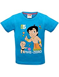 Luke and Lilly Chhota Bheem with Raju Printed Round Neck Cotton Blue T-Shirt ...