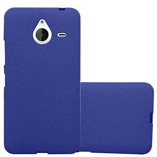 Cadorabo custodia per nokia lumia 640 xl in frost blu scuro - morbida cover protettiva sottile di silicone tpu con bordo protezione - ultra slim case antiurto gel back bumper guscio