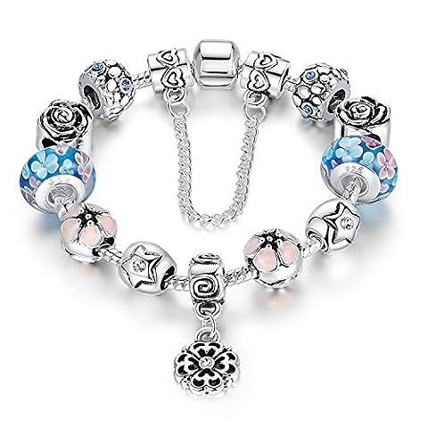 A TE® Bracelet Charms Bleu Femmes