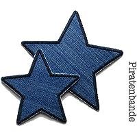 Set 2 Jeansflicken Stern Patch zum aufbügeln Kinder/Erwachsene Hosenflicken Bügelflicken