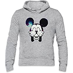 Mickey Mouse Fuck Off Mens Hoodie Medium
