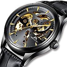 Relojes Hombre Reloj Automatico de Hombre Mecanicos Militar Deportes Impermeable Esqueleto Oro Lujo Diseño Relojes de